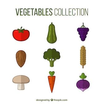 Colección de vegetales a color