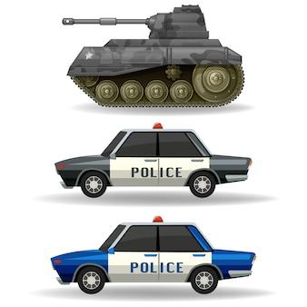 Colección de vehículos de a autoridad