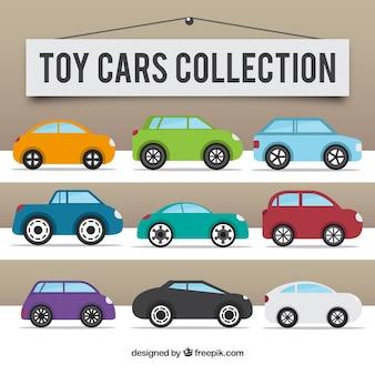 Colección de vehículos de juguete