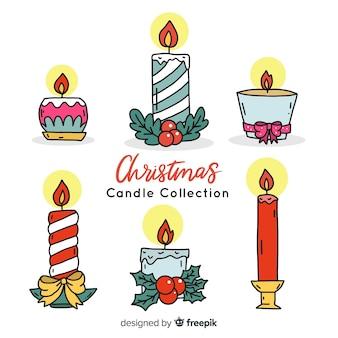 Colección de velas de navidad