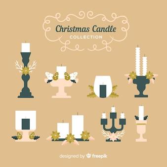 Colección velas planas navidad