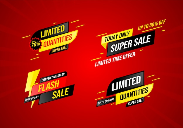 Colección de ventas en un estilo moderno