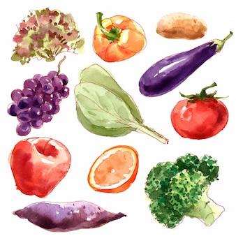 Colección de verduras.