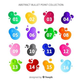 Colección de viñetas abstractas coloridas