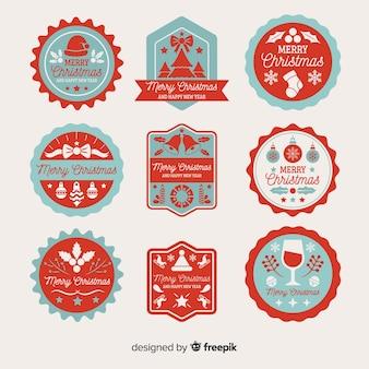 Colección vintage de etiquetas navideñas