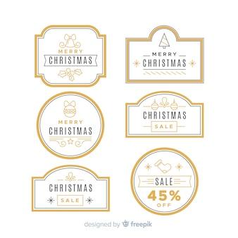 Colección vintage de insignias navideñas
