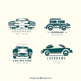 Colección vintage de logos de coches