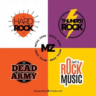 Colección vintage de logos de rock