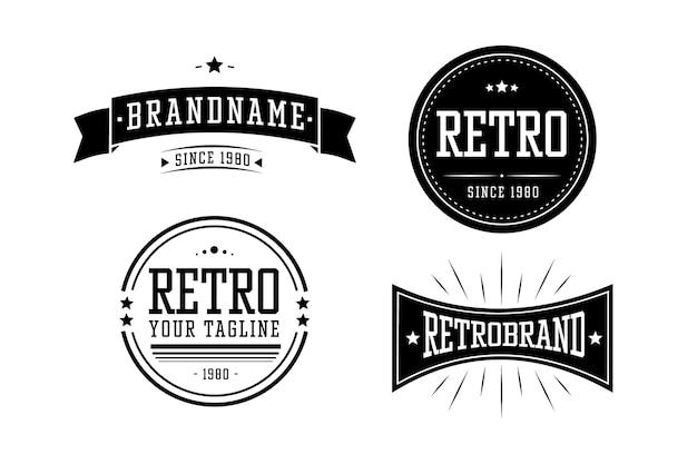 Colección vintage de logotipo de empresa comercial