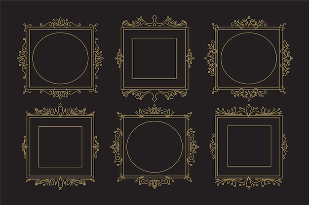 Colección vintage de marcos victorianos