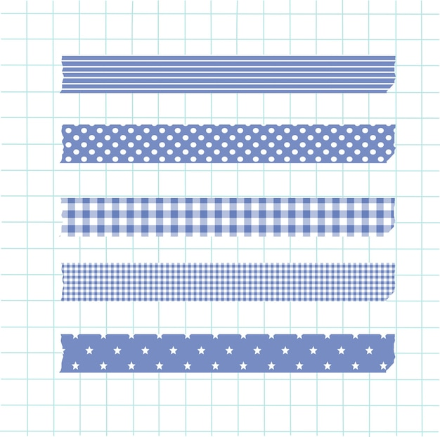 Colección washi tape blue element