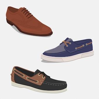 Colección de zapatos elegantes