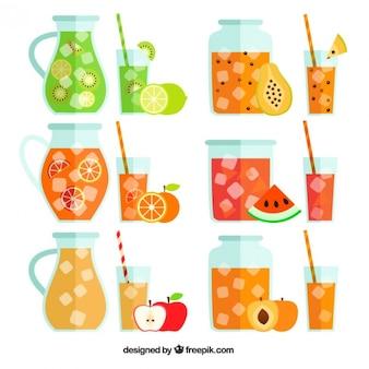 Colección de zumos de frutas
