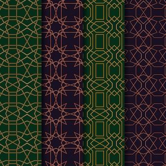 Colecciones de decoración de patrones geométricos árabes