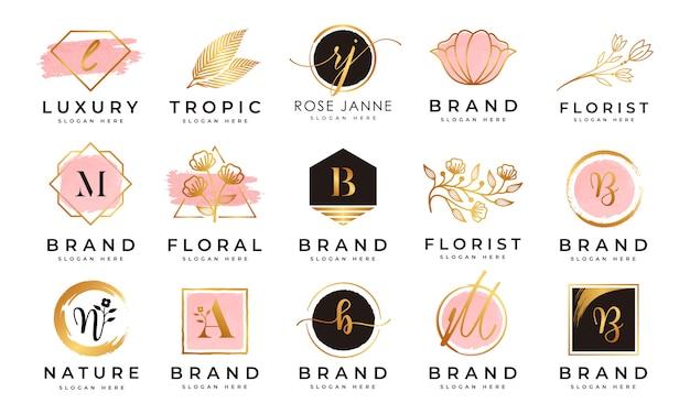 Colecciones de logotipos femeninos