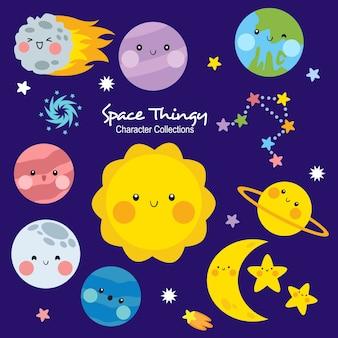 Colecciones de personajes de space thingy