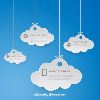 Colgando nube plantilla computing