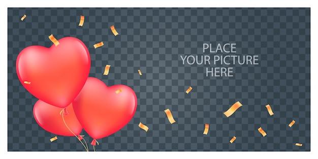 Collage de ilustración de marco de fotos o álbum de recortes.