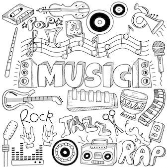 Collage con instrumentos musicales