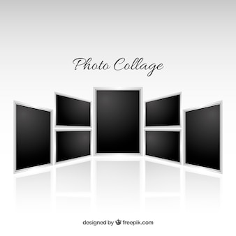 Collage de marco de foto en estilo realista