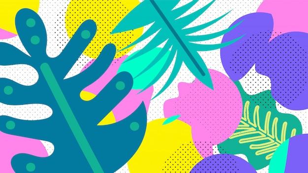 Collage de patrones sin fisuras florales contemporáneos.