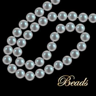 Collar de perlas de coral