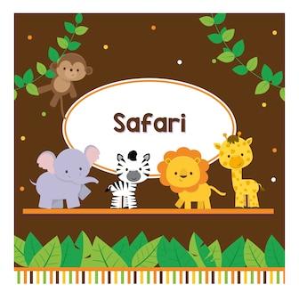 Colletion cute safari