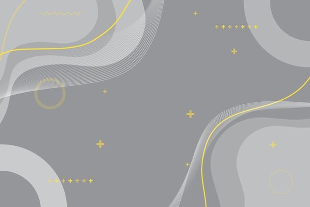Color del año 2021 fondo de líneas amarillas onduladas