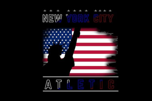 Color atlético de la ciudad de nueva york rojo y blanco