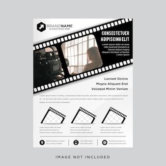 Color blanco y negro con plantilla de póster de tamaño a4.