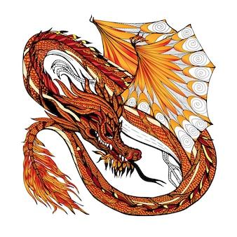 Color del bosquejo del dragón