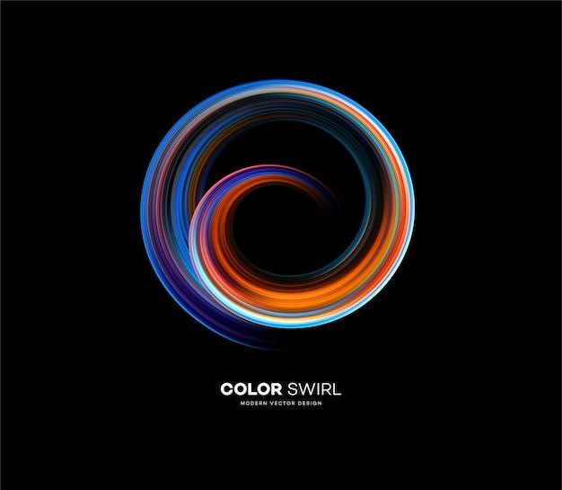 Color brillante forma de remolino