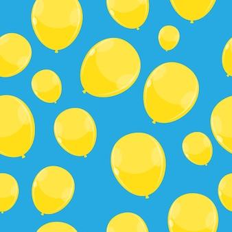 Color brillante globos seamles patrón de fondo vector illustra