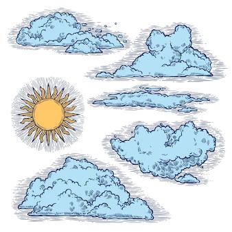 Color de cielo y nubes