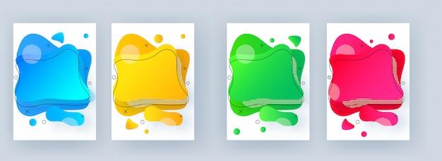 Color diferente líquido que fluye o fondo abstracto de arte fluido