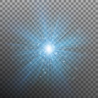 El color de explosión azul fuerza la luz.