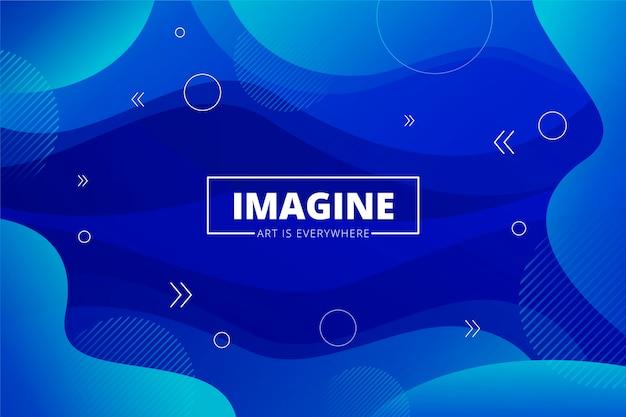 Color del fondo abstracto azul del año 2020
