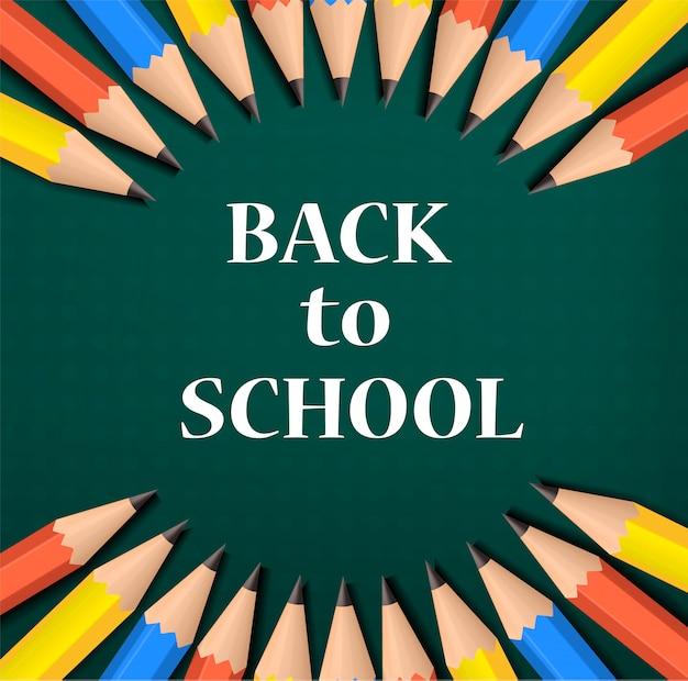 Color de fondo de regreso a la escuela, estilo realista