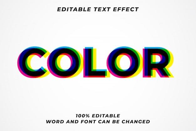 Color glitch multiplicar efecto de estilo de texto