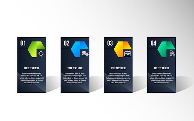 Color infografía moderna