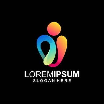 Color del logotipo abstracto completo