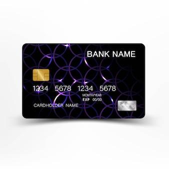Color morado y diseño de tarjeta de crédito.