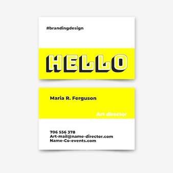Color neón para plantilla de tarjeta de visita