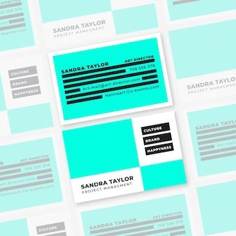 Color de neón para el tema de plantilla de tarjeta de visita