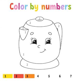Color por números. libro para colorear para niños.