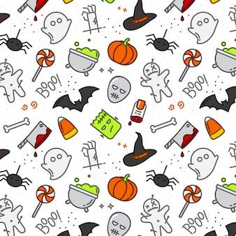 Color de patrón plano de halloween