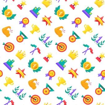 Color premios patrón de vectores sin fisuras