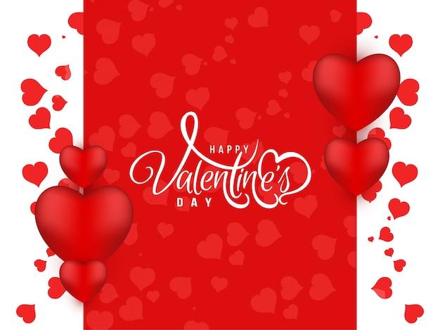 Color rojo feliz día de san valentín hermoso fondo