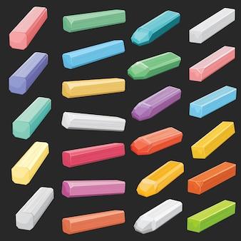 Color tiza pastel palos