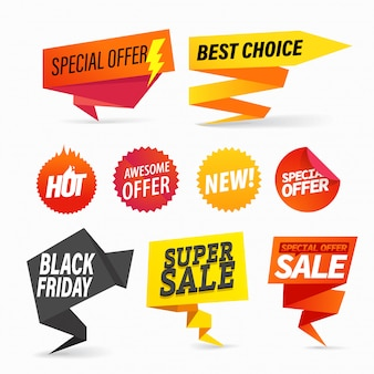 Color venta banners clipart